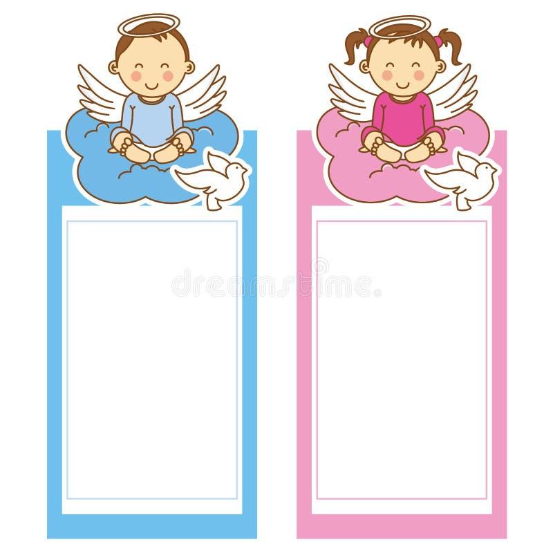 Κορίτσι και αγόρι βαπτίσματος απεικόνιση αποθεμάτων