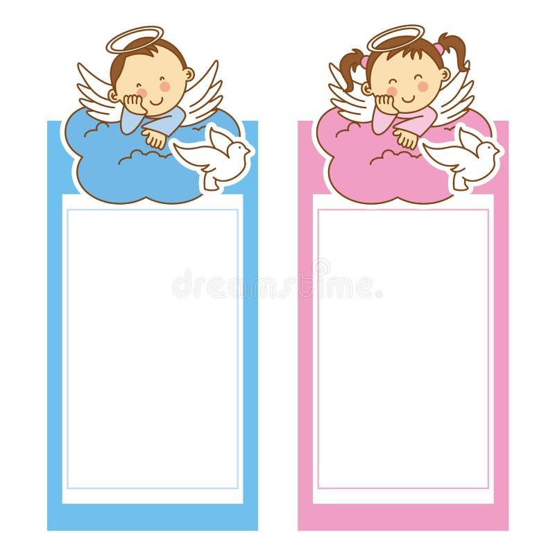 Κορίτσι και αγόρι βαπτίσματος ελεύθερη απεικόνιση δικαιώματος