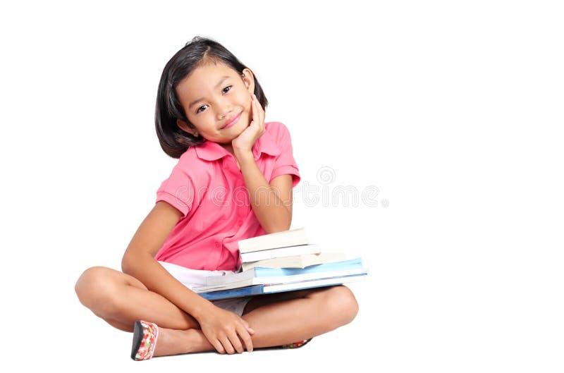 Κορίτσι και βιβλία στοκ φωτογραφία με δικαίωμα ελεύθερης χρήσης