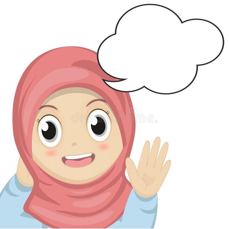Κορίτσι και λεκτική φυσαλίδα ελεύθερη απεικόνιση δικαιώματος