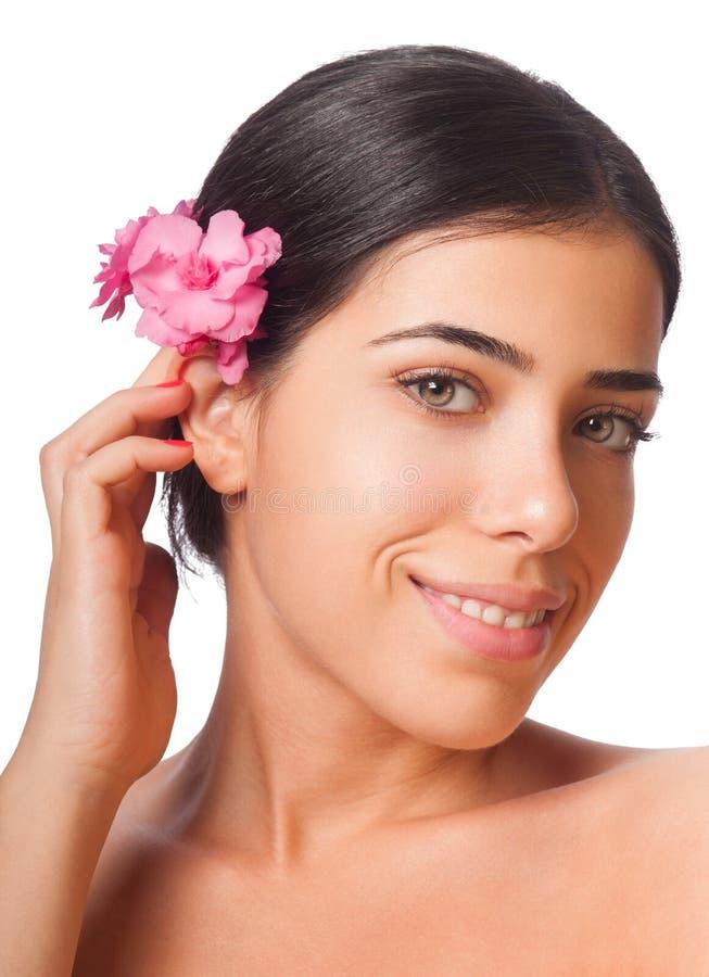 Κορίτσι και λουλούδι στοκ εικόνες με δικαίωμα ελεύθερης χρήσης