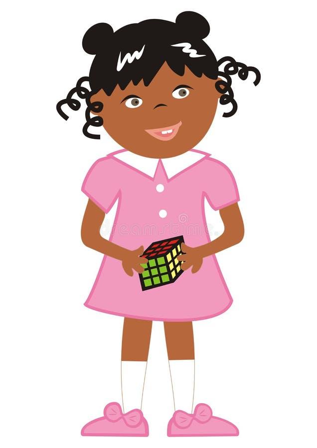 Κορίτσι και πειρακτήριο εγκεφάλου, διανυσματική απεικόνιση διανυσματική απεικόνιση