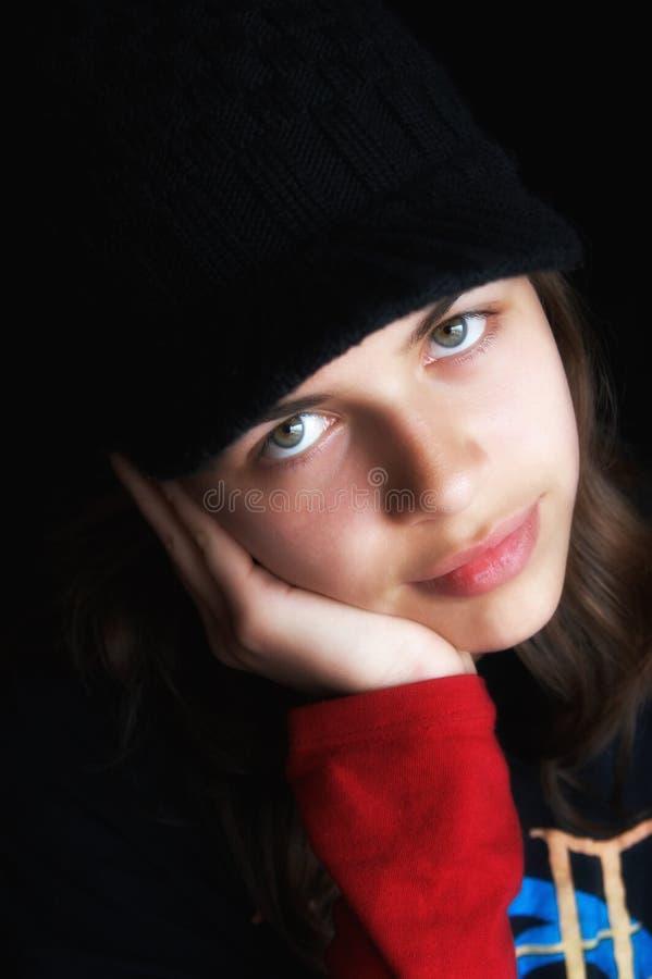 κορίτσι ΚΑΠ στοκ εικόνες με δικαίωμα ελεύθερης χρήσης
