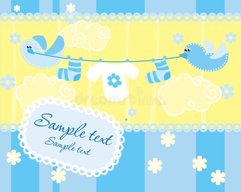 κορίτσι καρτών μωρών άφιξης α απεικόνιση αποθεμάτων