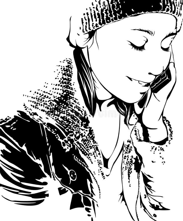 κορίτσι κλήσης ελεύθερη απεικόνιση δικαιώματος