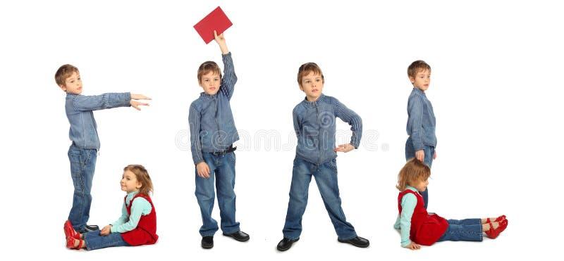 κορίτσι κολάζ παιδιών πο&upsilon στοκ φωτογραφία με δικαίωμα ελεύθερης χρήσης