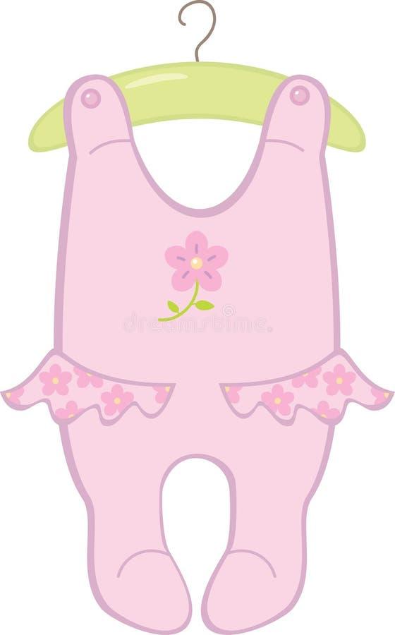 κορίτσι κομπινεζόν μωρών απεικόνιση αποθεμάτων