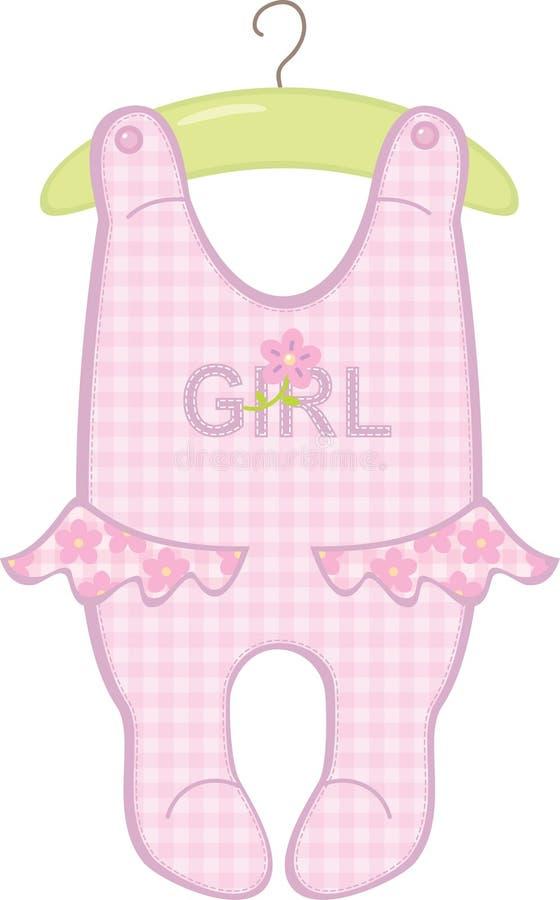 κορίτσι κομπινεζόν 2 μωρών διανυσματική απεικόνιση