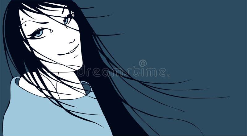 κορίτσι κομψότητας ομορφ απεικόνιση αποθεμάτων