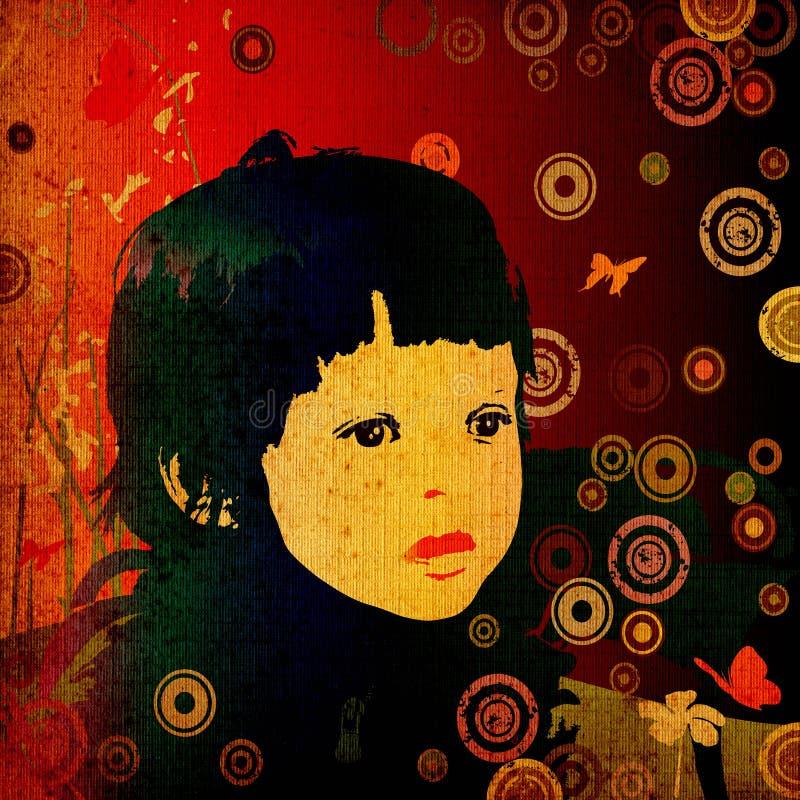 κορίτσι κύκλων ελεύθερη απεικόνιση δικαιώματος