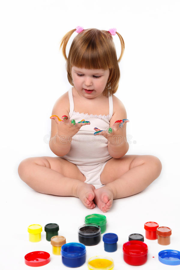 Download κορίτσι λίγα στοκ εικόνα. εικόνα από childhood, ακατάστατος - 17052829