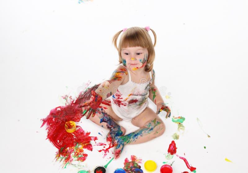Download κορίτσι λίγα στοκ εικόνα. εικόνα από διασκέδαση, ακατάστατος - 17052859