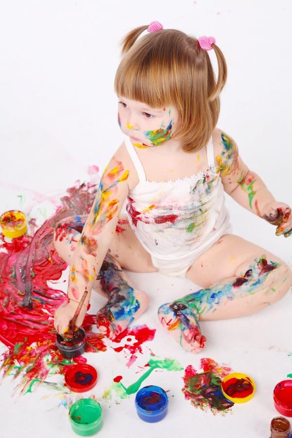 Download κορίτσι λίγα στοκ εικόνες. εικόνα από παιδί, δημιουργικότητα - 17052868