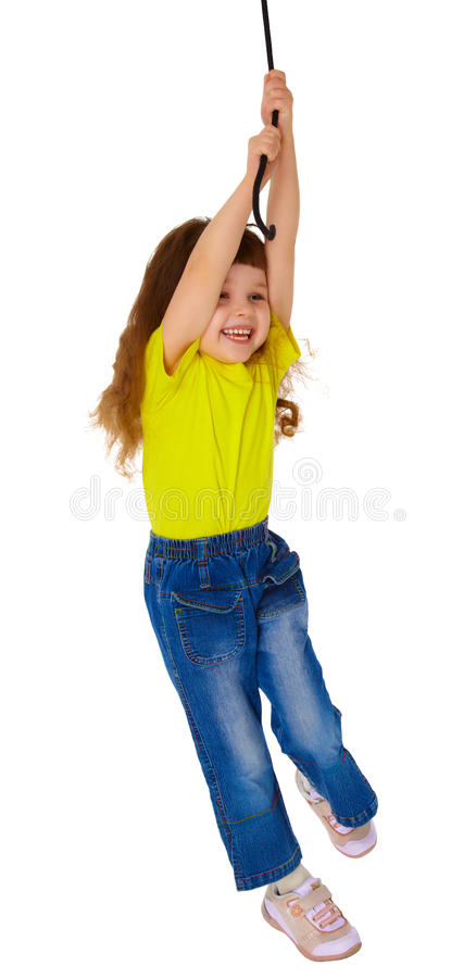 κορίτσι λίγη ταλάντευση &sigma στοκ εικόνες με δικαίωμα ελεύθερης χρήσης