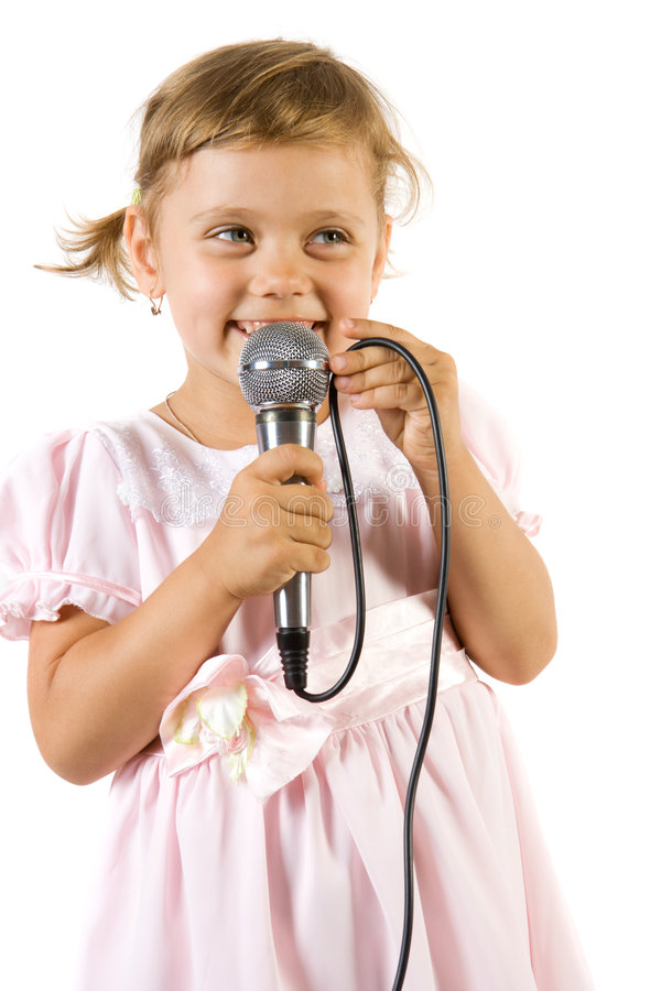 κορίτσι λίγο τραγούδι στοκ φωτογραφίες