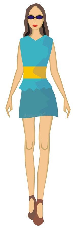 κορίτσι λεπτό ελεύθερη απεικόνιση δικαιώματος