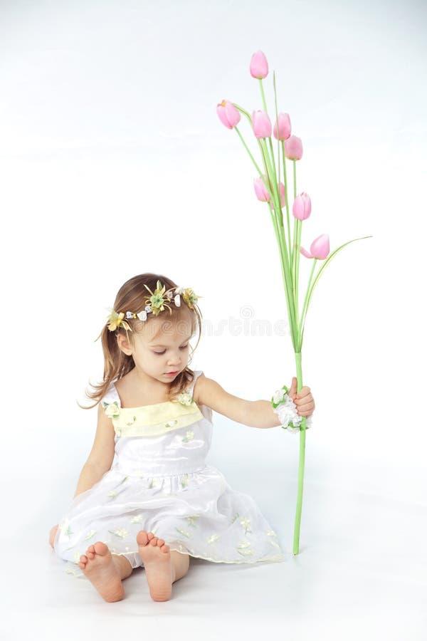 κορίτσι λουλουδιών φο&rho στοκ εικόνες