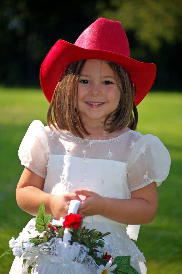 κορίτσι λουλουδιών χωρών στοκ εικόνα με δικαίωμα ελεύθερης χρήσης