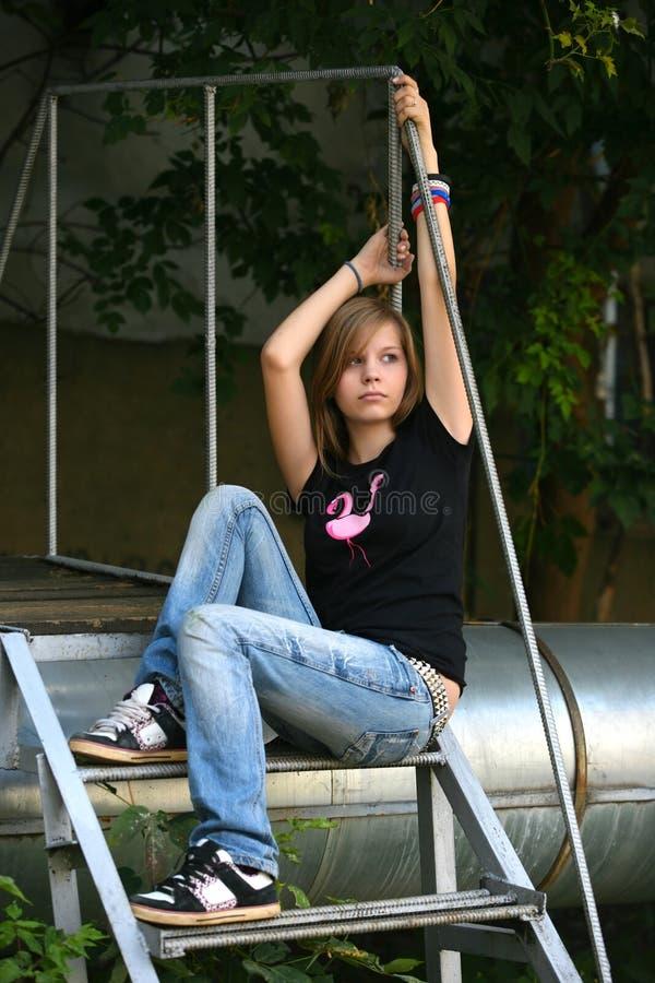 κορίτσι λυπημένο στοκ φωτογραφίες