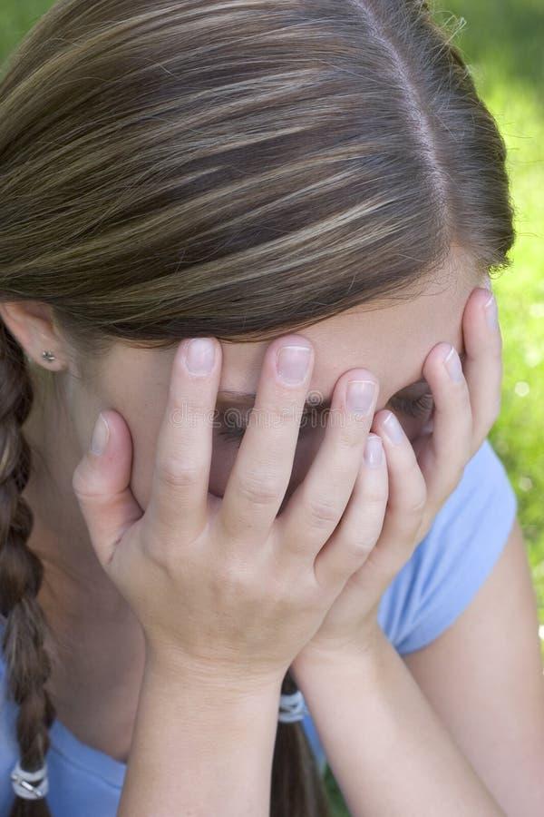κορίτσι λυπημένο στοκ φωτογραφία