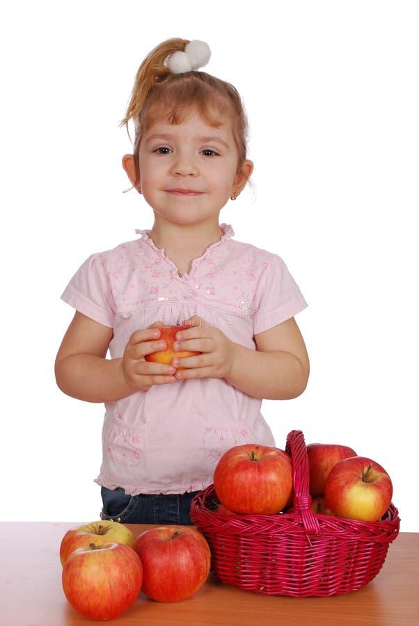 Download κορίτσι μήλων λίγα στοκ εικόνες. εικόνα από ευτυχής, οργανικός - 13179320
