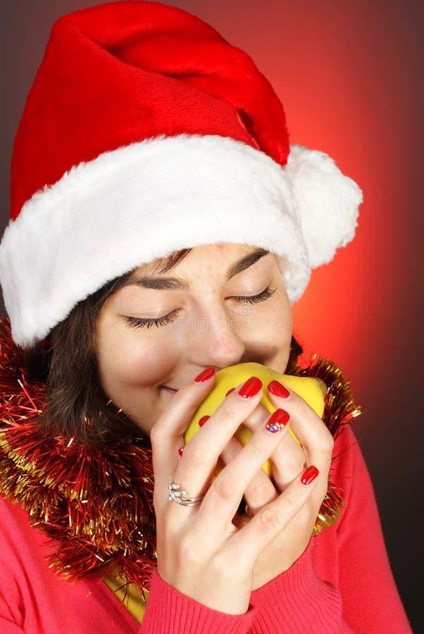 κορίτσι μήλων attractiv στοκ εικόνες