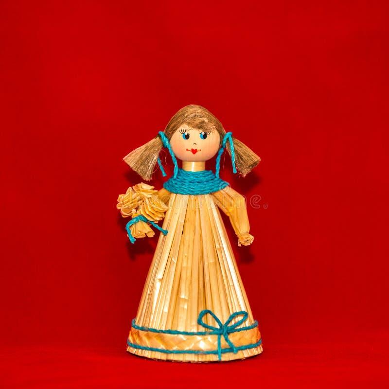 Κορίτσι μαριονετών αχύρου στοκ φωτογραφία με δικαίωμα ελεύθερης χρήσης