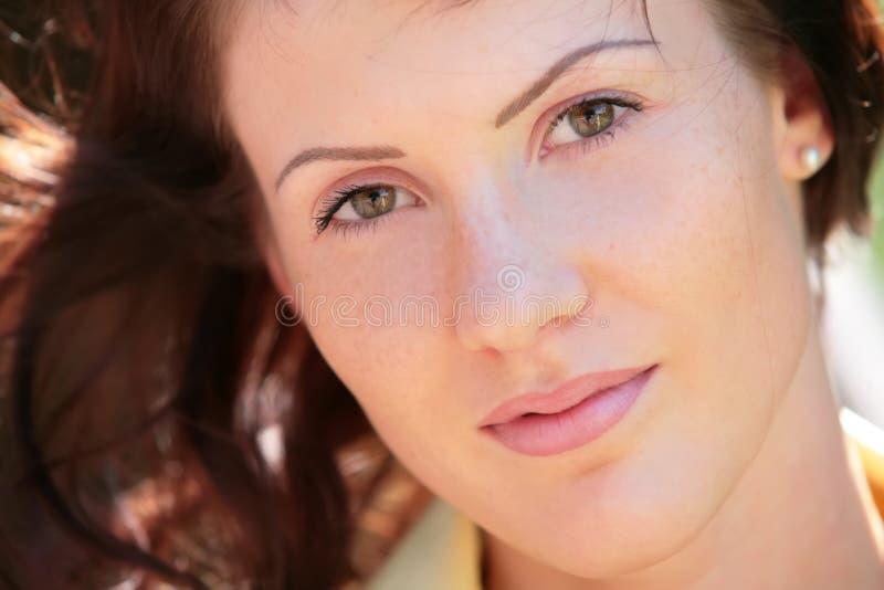 κορίτσι ματιών πράσινο στοκ εικόνες με δικαίωμα ελεύθερης χρήσης