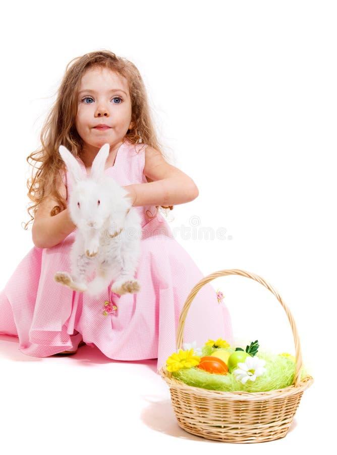 Κορίτσι με ένα κατοικίδιο ζώο στοκ φωτογραφίες