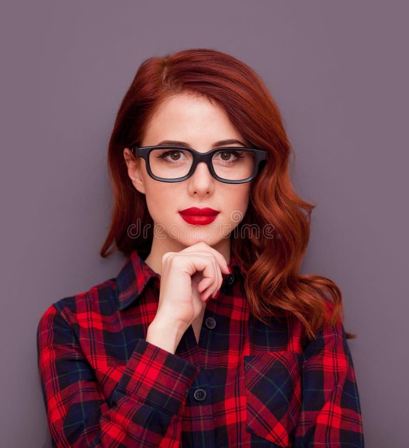 Κορίτσι με τα γυαλιά στοκ εικόνες