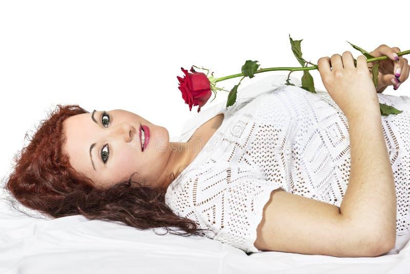 Κορίτσι με τα τριαντάφυλλα στοκ εικόνα με δικαίωμα ελεύθερης χρήσης