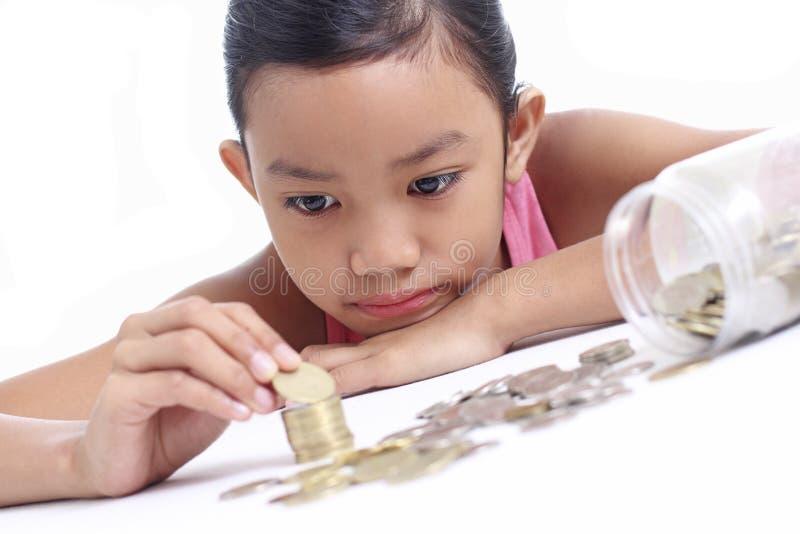 Κορίτσι με τα χρήματα στοκ φωτογραφίες με δικαίωμα ελεύθερης χρήσης