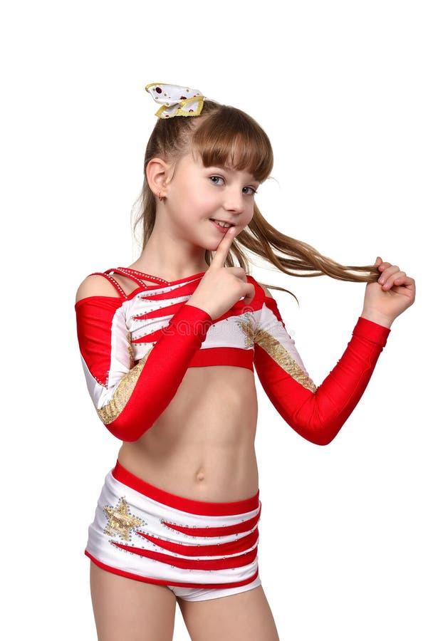 Κορίτσι με την ήρεμη χειρονομία στοκ εικόνες με δικαίωμα ελεύθερης χρήσης