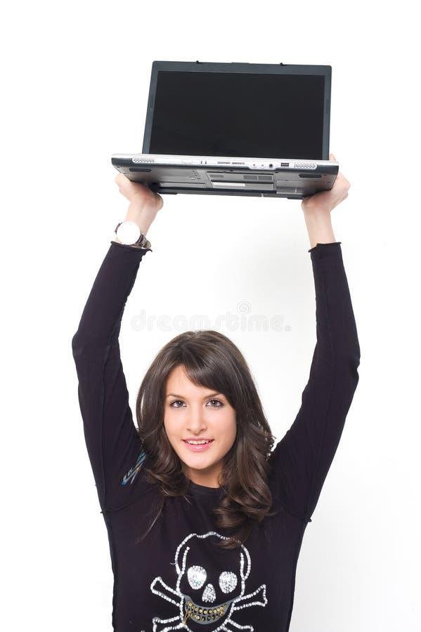 Κορίτσι με την κορυφή περιτυλίξεων στοκ φωτογραφία