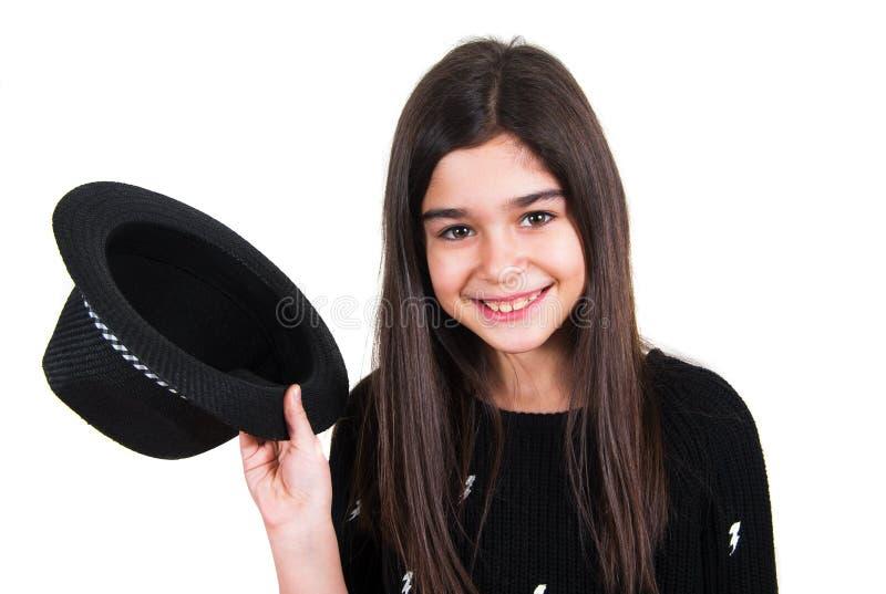 Κορίτσι με το καπέλο στοκ εικόνες
