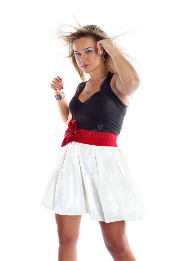 Κορίτσι με το χαλαρό τρίχωμα στοκ εικόνες
