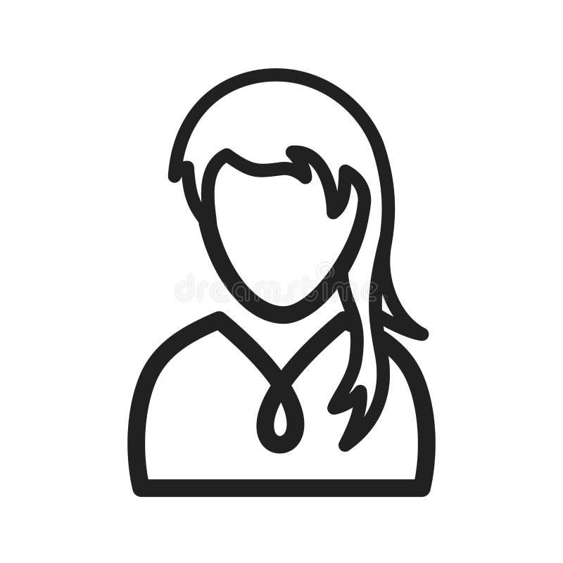 Κορίτσι με το ponytail διανυσματική απεικόνιση