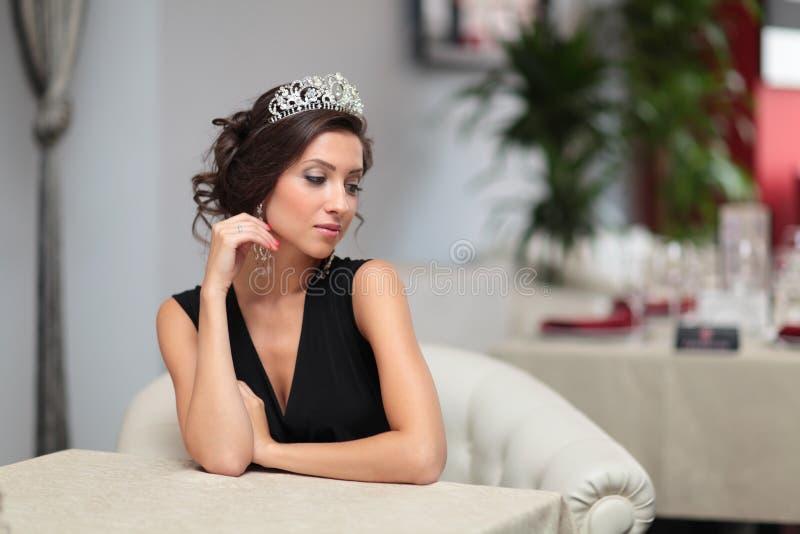 Κορίτσι με diadem στοκ εικόνες