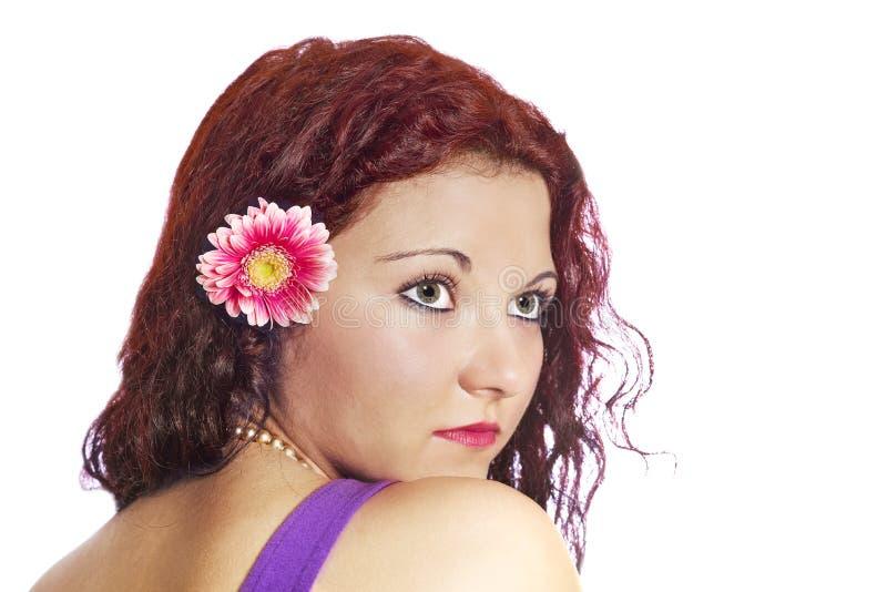 Κορίτσι με Gerber στοκ εικόνες με δικαίωμα ελεύθερης χρήσης