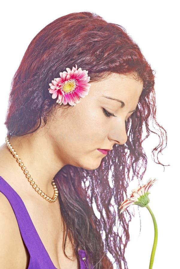 Κορίτσι με Gerber στοκ φωτογραφίες με δικαίωμα ελεύθερης χρήσης