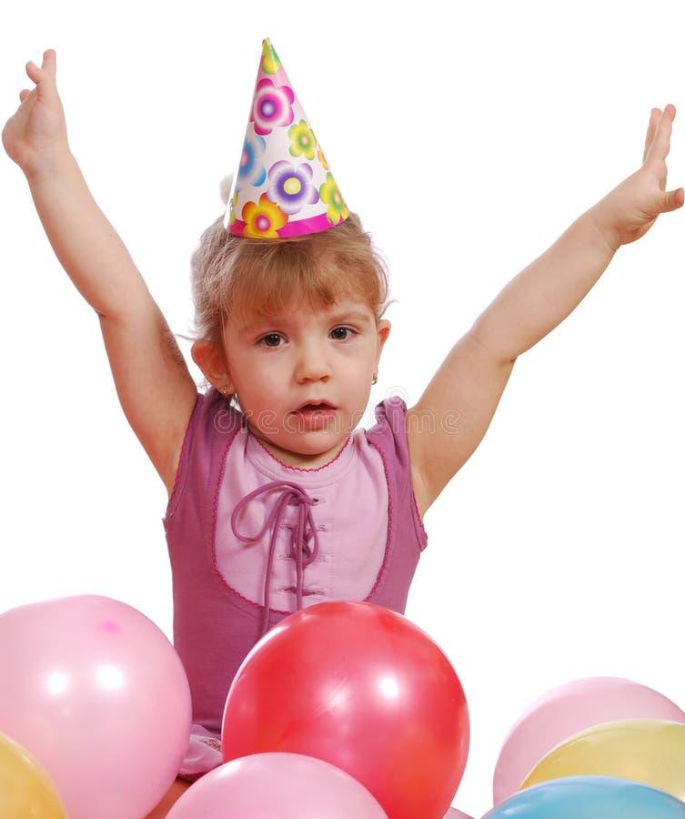 Download κορίτσι μπαλονιών λίγα στοκ εικόνα. εικόνα από αρκετά - 13179261