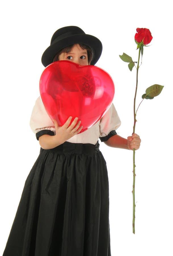 κορίτσι μπαλονιών που λίγ&o στοκ φωτογραφία με δικαίωμα ελεύθερης χρήσης