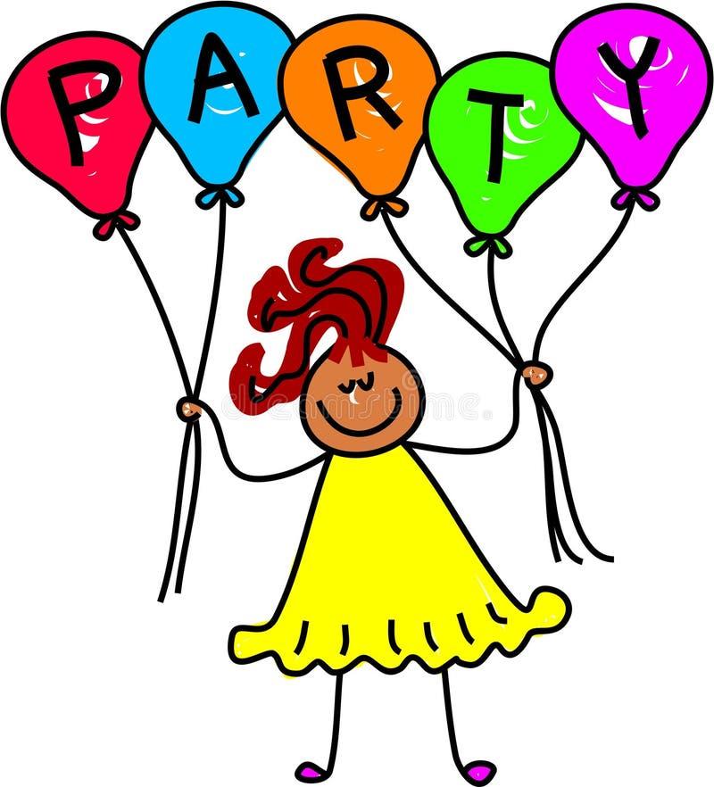 κορίτσι μπαλονιών ελεύθερη απεικόνιση δικαιώματος