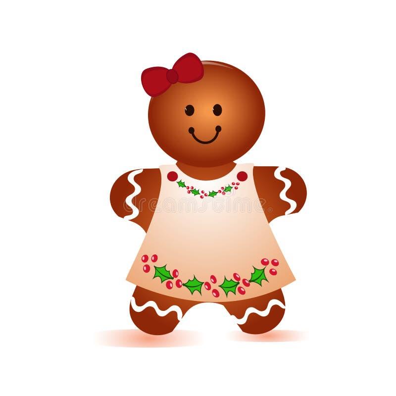 Κορίτσι μπισκότων ελεύθερη απεικόνιση δικαιώματος