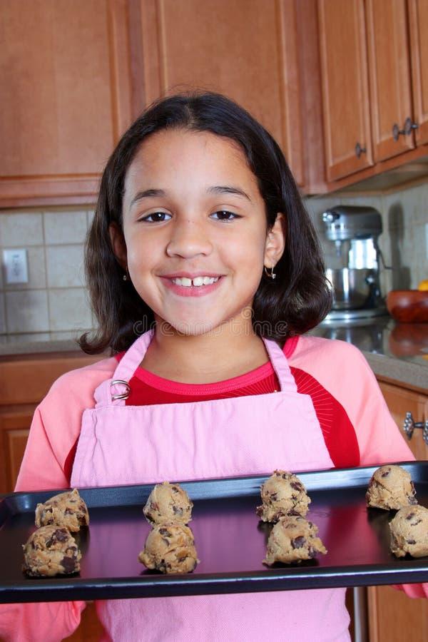 κορίτσι μπισκότων στοκ εικόνες με δικαίωμα ελεύθερης χρήσης