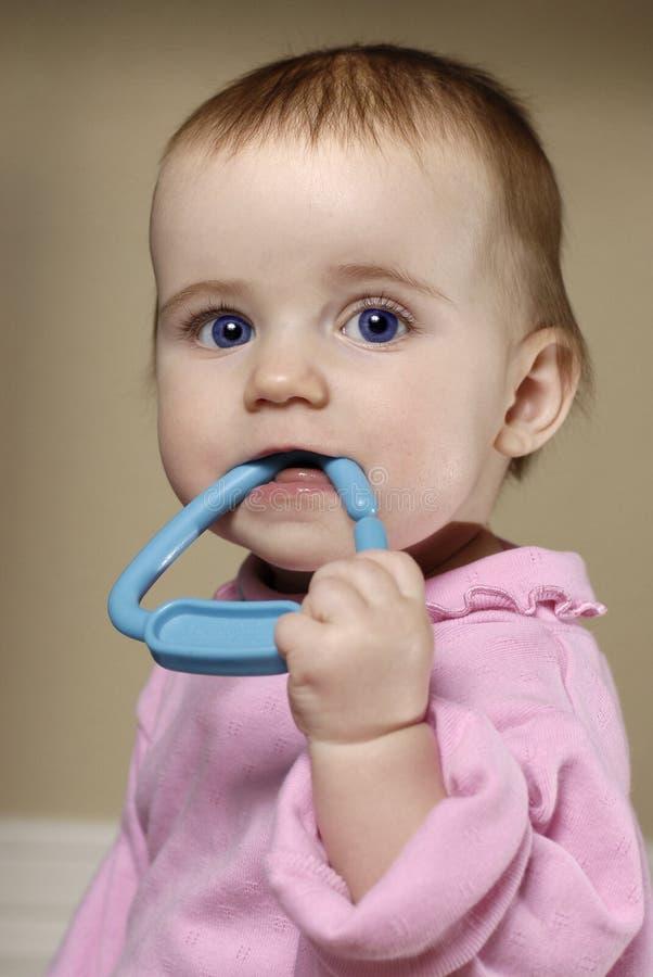 κορίτσι μπλε ματιών μωρών στοκ εικόνα με δικαίωμα ελεύθερης χρήσης