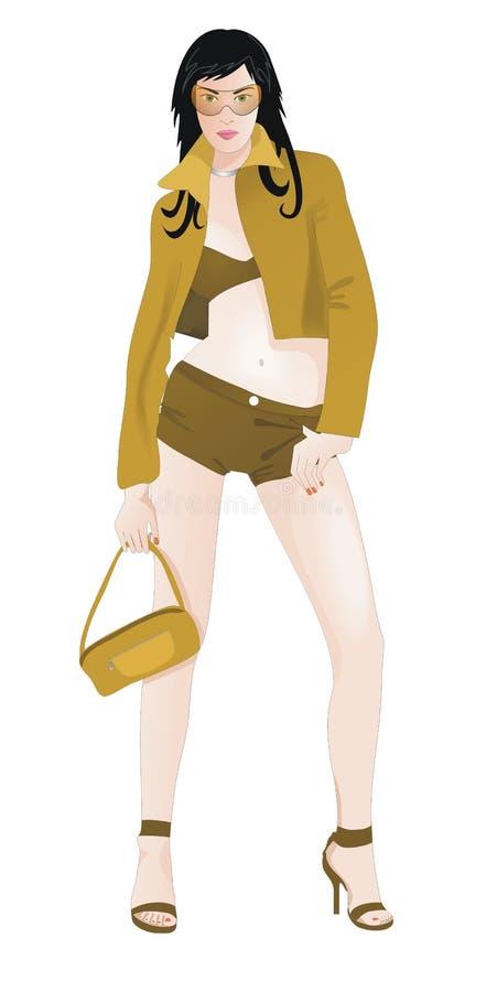 κορίτσι μόδας απεικόνιση αποθεμάτων
