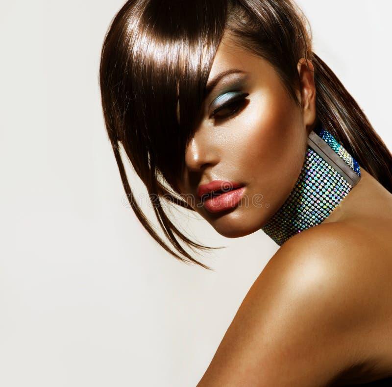 Κορίτσι ομορφιάς μόδας στοκ εικόνες με δικαίωμα ελεύθερης χρήσης