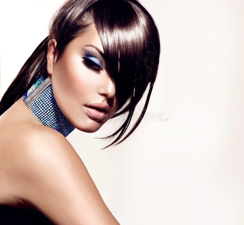 Κορίτσι ομορφιάς μόδας στοκ εικόνα