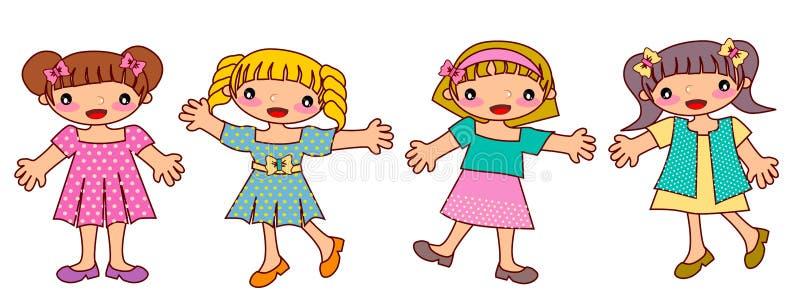 Κορίτσι παιδιών απεικόνιση αποθεμάτων